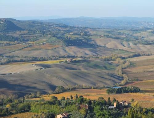 Val d'Orcia, una postal de Toscana